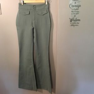 NWT Romeo & Juliet Couture Dusty Sage Flare Pants